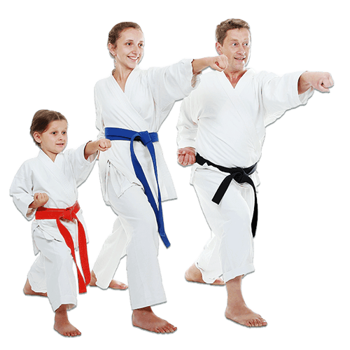 Martial Arts Lessons for Families in Rockwall TX - Man and Daughters Family Punching Together